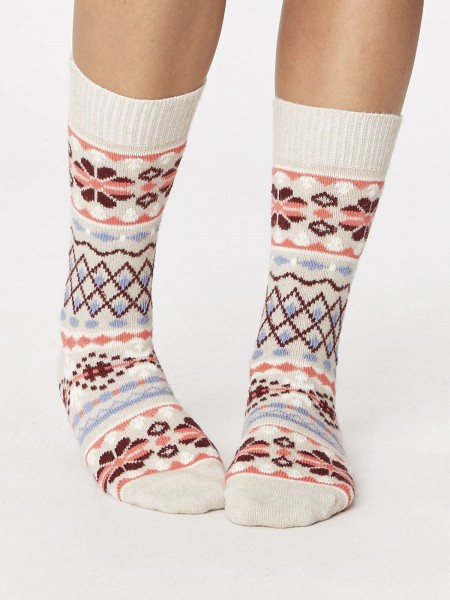 Inga Wool Socks White