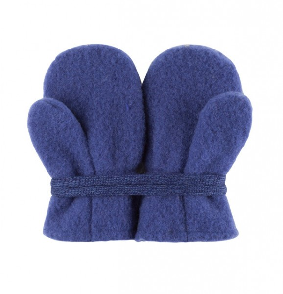 Baby Fäustel Wollfleece blue