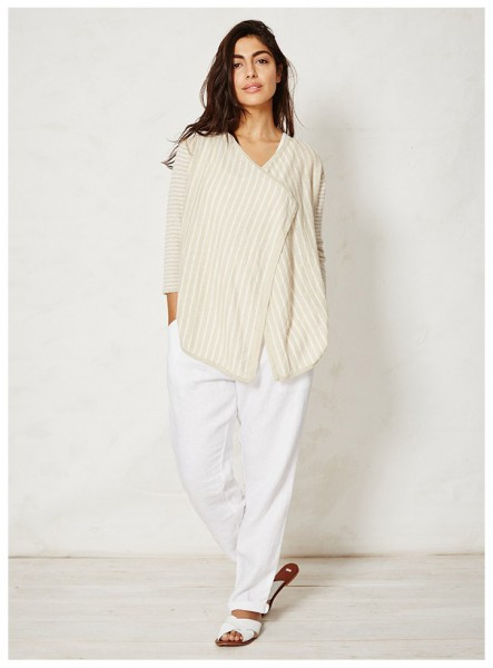 Timian Stripey Hemp Cardigan