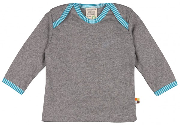 Basic-Langarmshirt grey