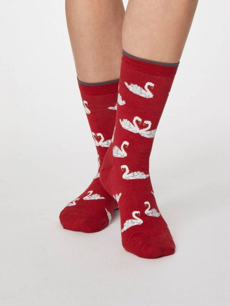 Bamboo Socks Berry Red
