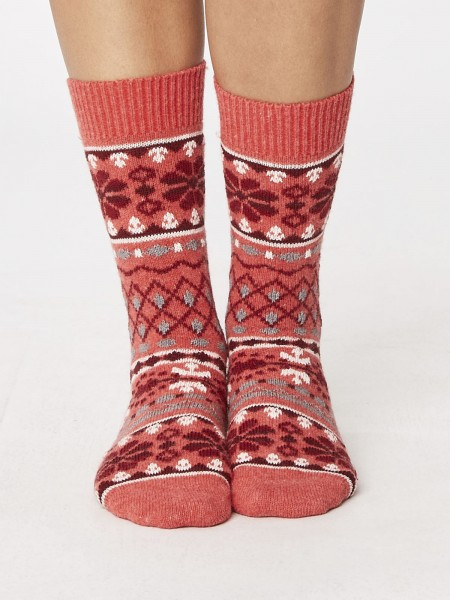Inga Wool Socks raspberry