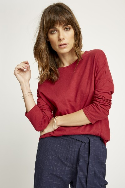 Nerissa Top in Tibetan Red
