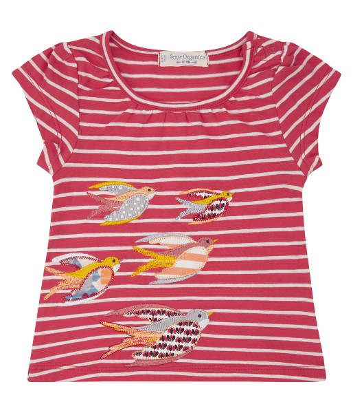 Baby T-Shirt mit Applikation Vogel-Motive