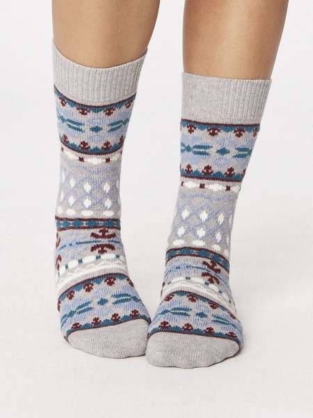 Inga Wool Socks Grey