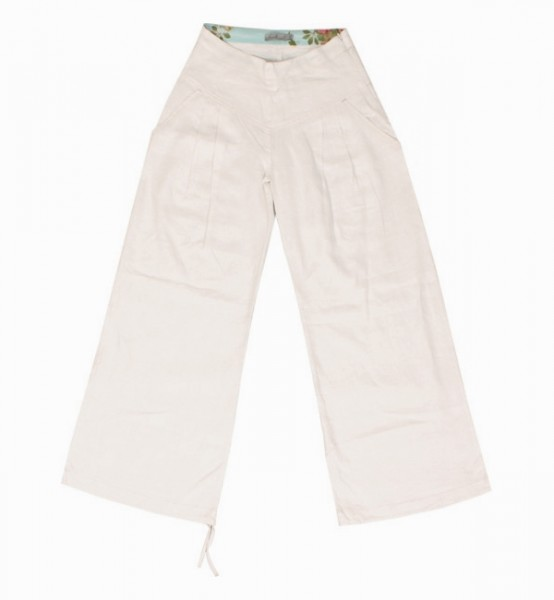 Leinenhose May Flare white