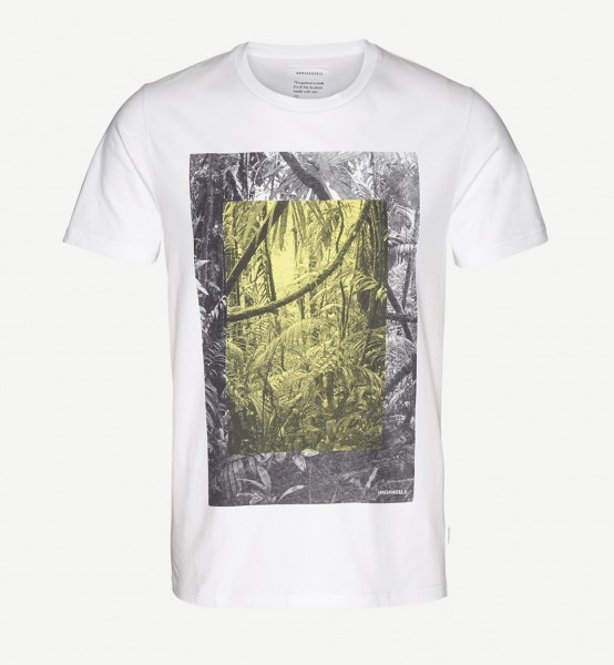 James Rainforest White Print T-Shirt