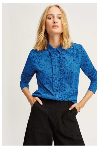 Marlowe Dot Shirt blue