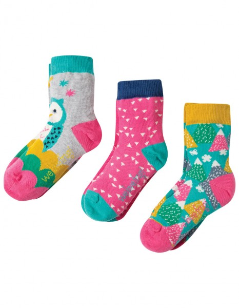 3er Pack Socken Barn Owl Multicolor