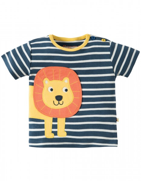 T-Shirt Soft Navy Breton/ Lion