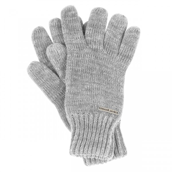 Knit Gloves Light Grey
