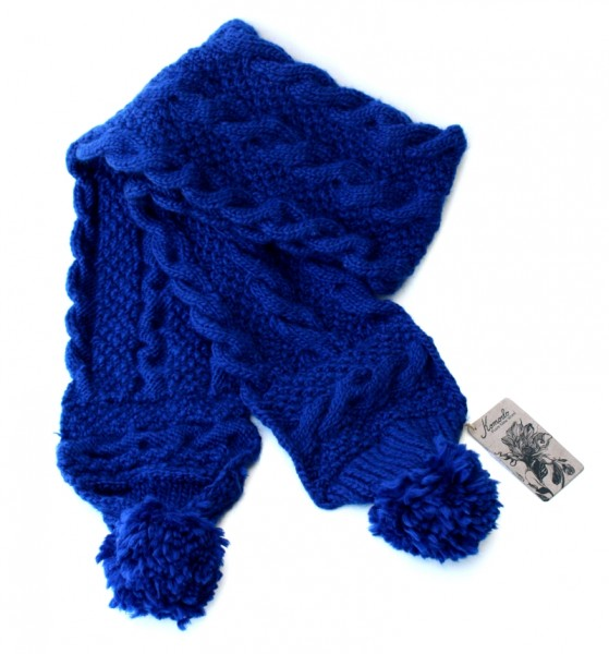 Wollschal Royal Blue