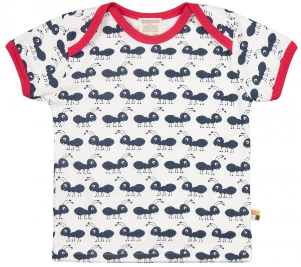 T-Shirt mit Ameisen-Motiven Navy