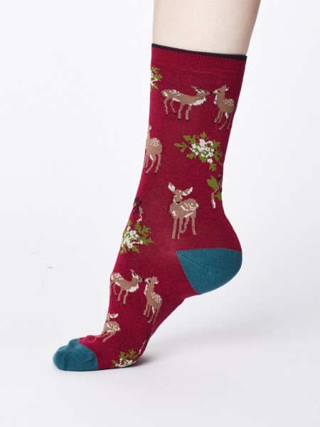 Damensocken Renko Cranberry